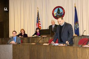 Councilor Joe Baldacci speaking at a Bangor City Council meeting