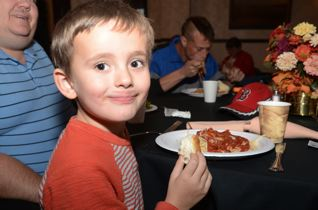 """The spaghetti is great and my granddad is serving it,"" said Mason Durgin, whose grandfather is the Mayor of Bangor."