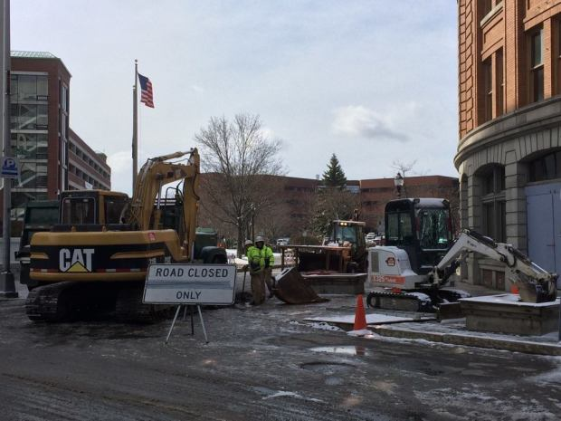 Downtown Bangor undergoes change. Photo by Gibran Vogue Graham