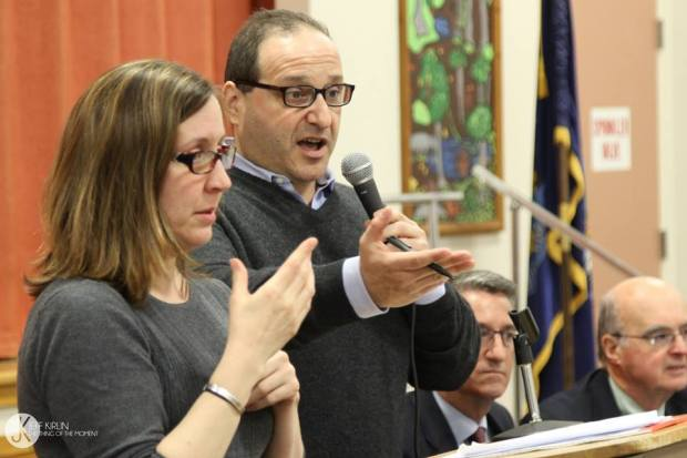 Baldacci speaks at his minimum wage forum in Bangor last spring.